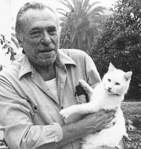 Bukowski with Cat