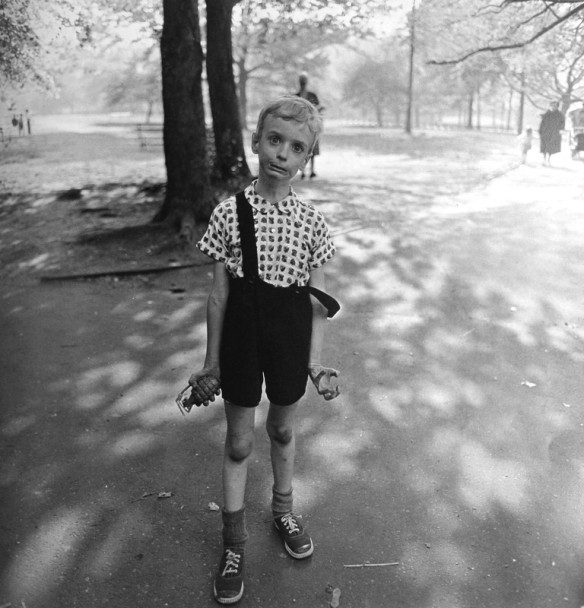 Child with Toy Hand Grenade in Central Park