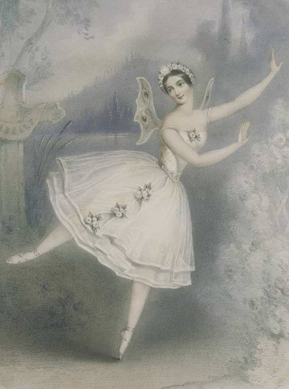 Carlotta Grisi in the title role of the ballet Giselle (1841)