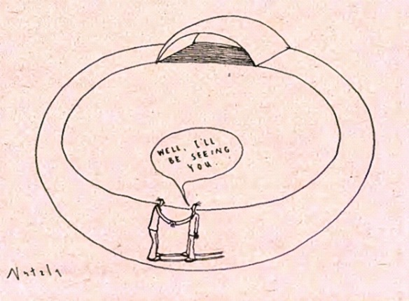 Cartoon by Futzie Nutzle: Well, I'll be seeing you.