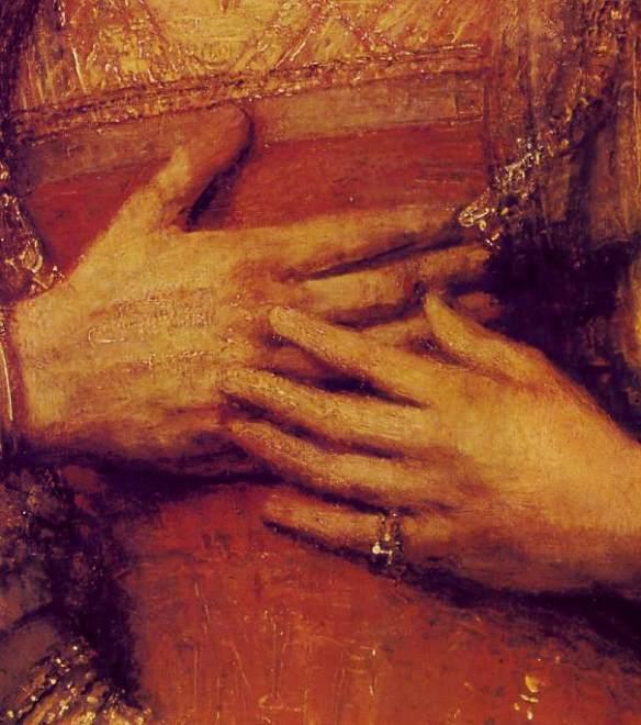 The Jewish Bride (detail)