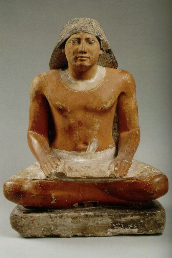 Scribe: Fifth Dynasty - Painted limestone - Egyptian Museum, Cairo