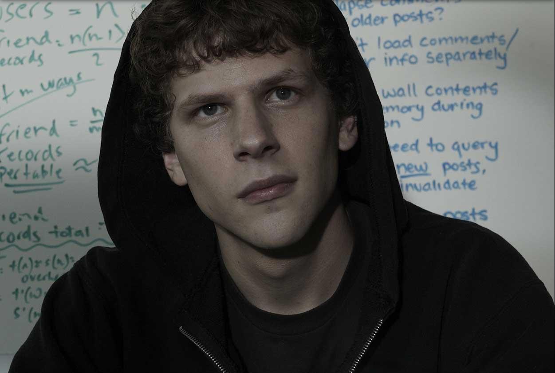 Jesse Eisenberg wearing a black hoodie