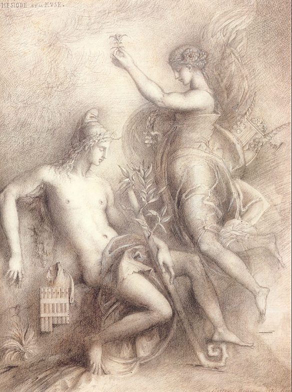 Hesoid and the Muse