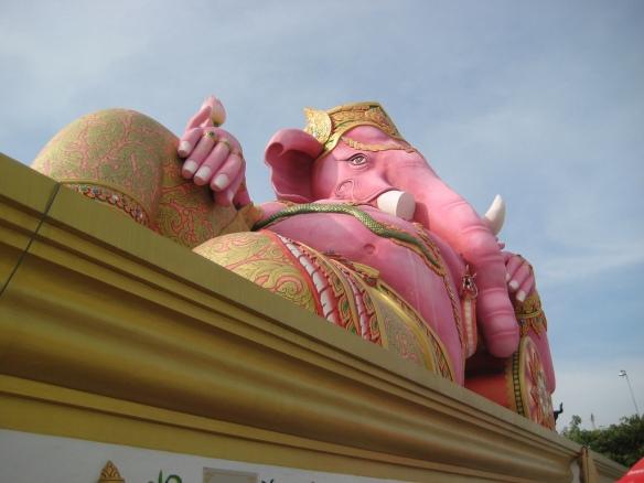 Reclining Pink Ganesh