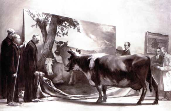 Painting by Mark Tansey: The Innocent Eye Test (1981)
