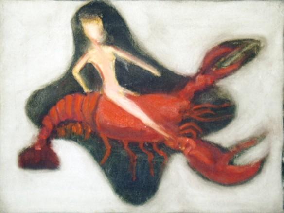 Woman Riding Crustacean