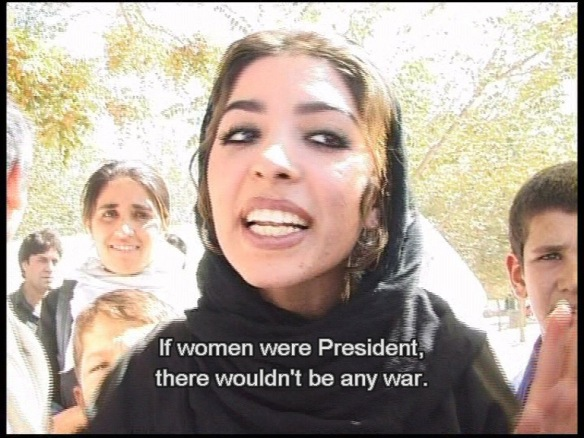 If women were president, there wouldn't be any war.