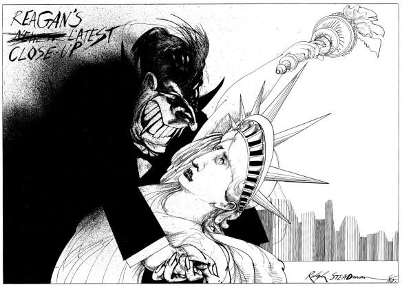Ronald Reagan by Ralph Steadman