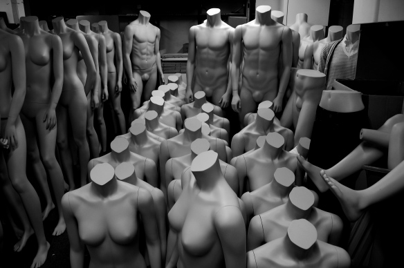 Mannequins in storage