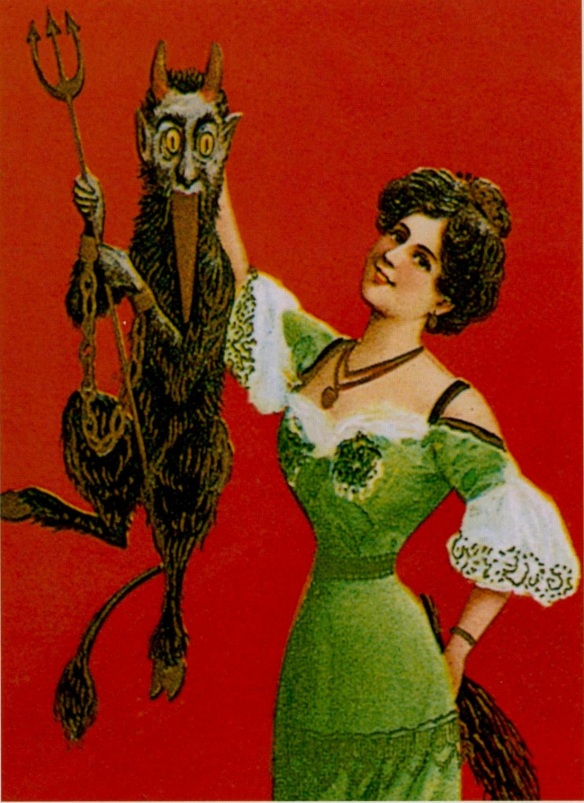 Woman and a Devil Puppet