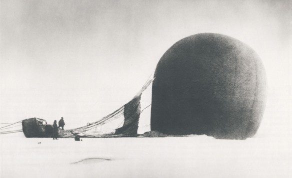 Members of Salomon Andrée Expedition with Balloon Remains
