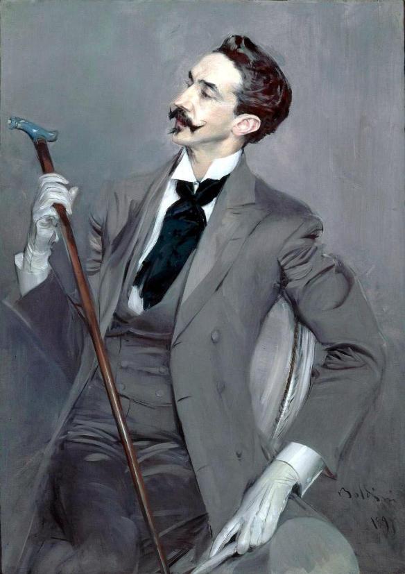 Painting by Giovanni Boldini: Le Comte Robert de Montesquiou (1897)