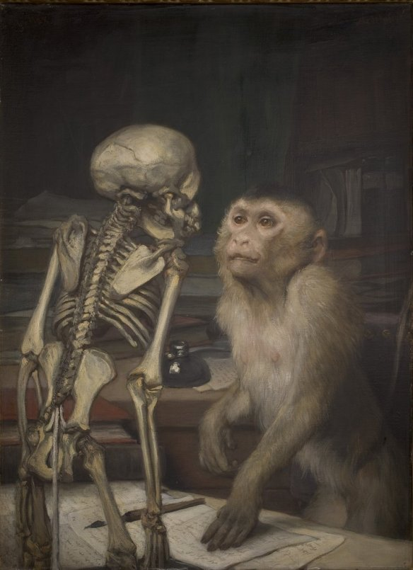 Monkey before Skeleton