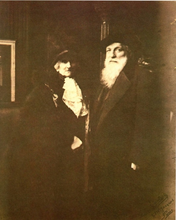 Rose and Auguste Rodin on their wedding day, Meudon, 29 January 1917