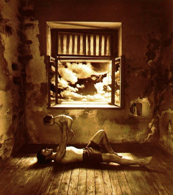Photo by Jan Saudek: You'll Be a Fortress and I'll Be Safe Inside Your Massive Walls (1978)