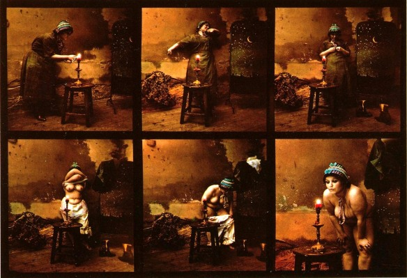 Photo series by Jan Saudek: Maid's Evening (1980)