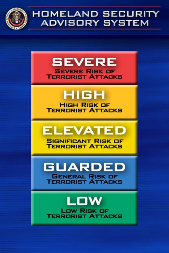 Homeland Security Advisory System: United States of America, 2002