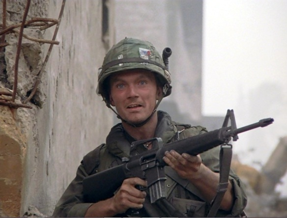 "Photo: ""Crazy Earl"" (Kieron Jecchinis) in a scene from Stanley Kubrick's Full Metal Jacket (1987)"