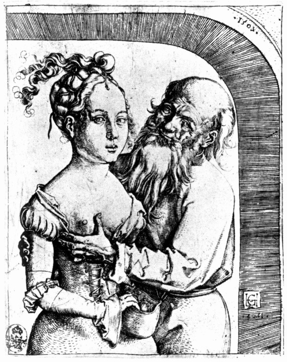 Etching by Hans Baldung Grien III: Matched Couple (1507)