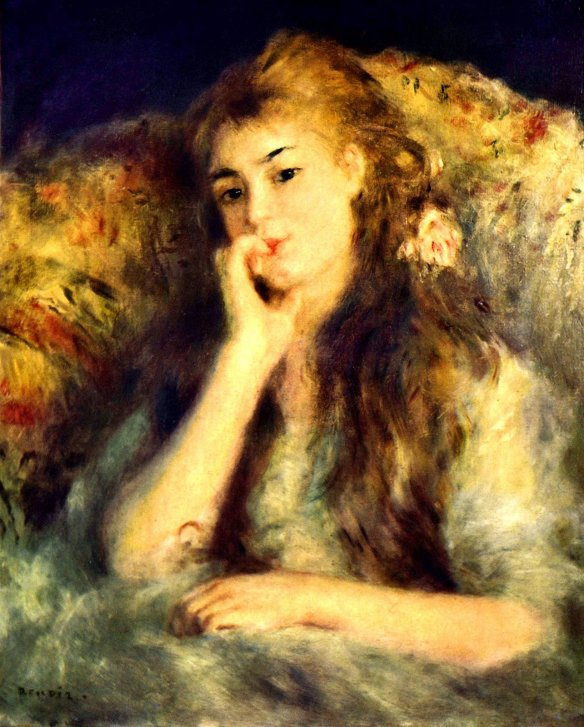 Painting by Auguste Renoir: Portrait of a Girl (1878)