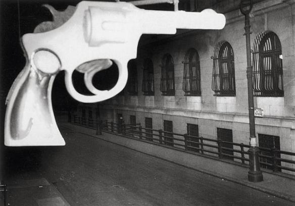 Photo by Weegee: A Gun Shop Sign (1943)