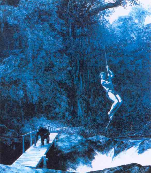 Painting by Mark Tansey: Nature Ape (1984)