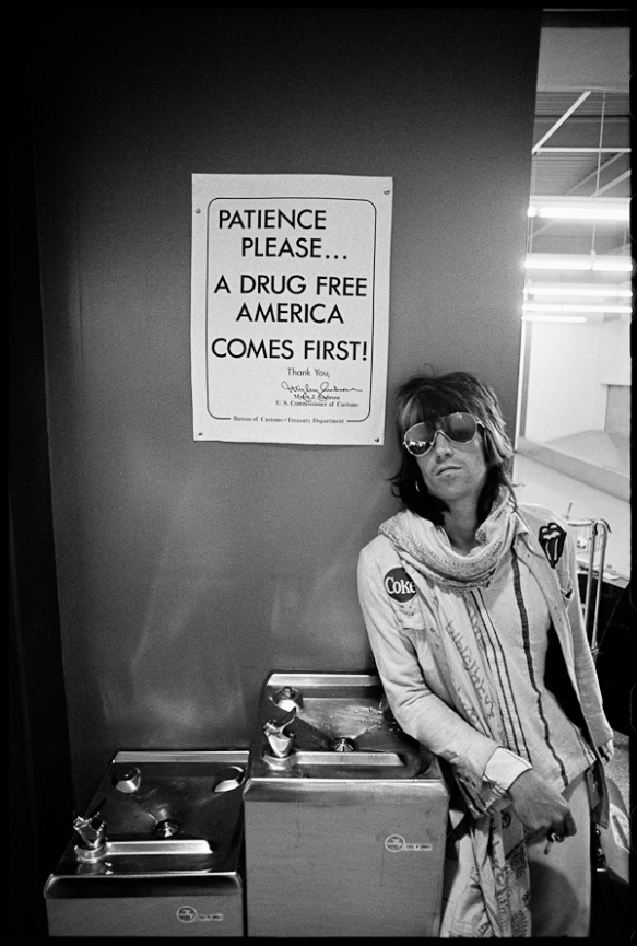 Photo by Ethan Russell: Keith Richards, Rolling Stones North American Tour, 1972