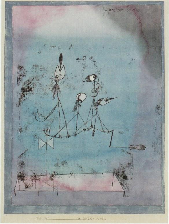 Painting by Paul Klee: Twittering Machine (1922)