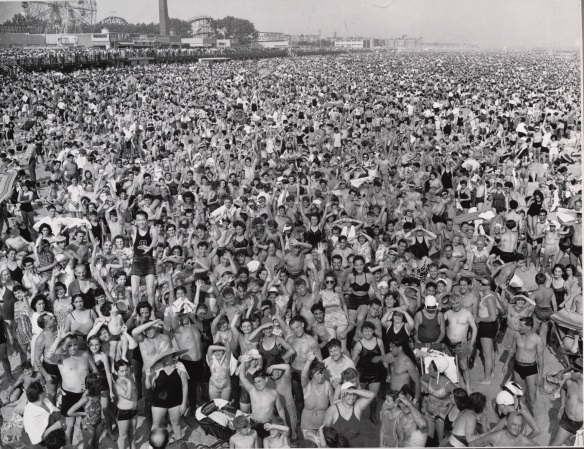 Photo by Weegee: Coney Island Crowd, 1940