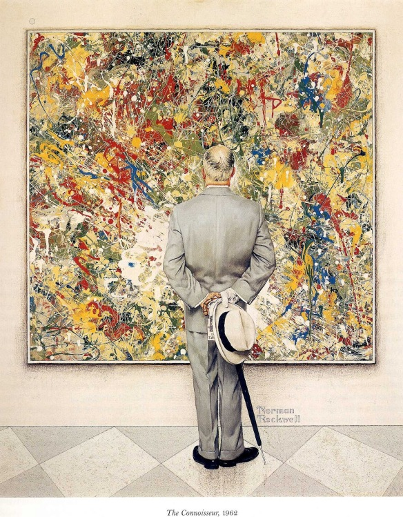 Painting by Norman Rockwell: The Connoisseur (1962)
