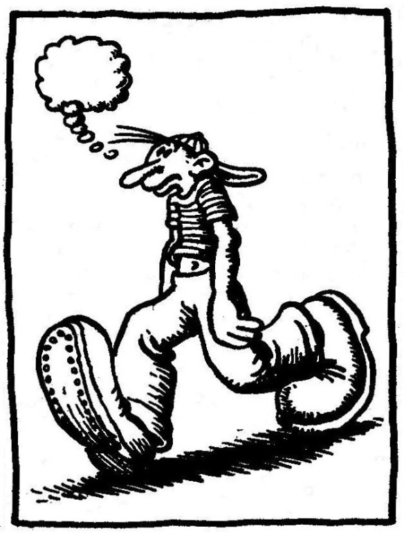 Illustration by R. Crumb from Zap Comix No. 1 (1967)