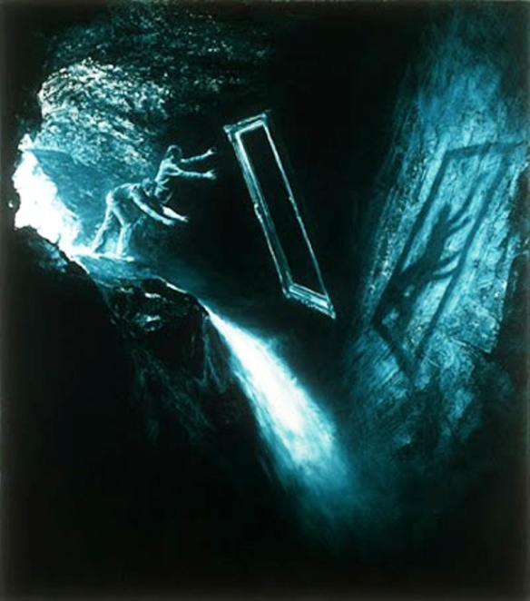 Painting by Mark Tansey: Discarding the Frame (1980s)