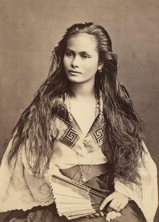 Ile de Luzon. Métisses Tagalo-Chinoises. Portraits, 1870-1914. Photographe inconnu. Bnf.