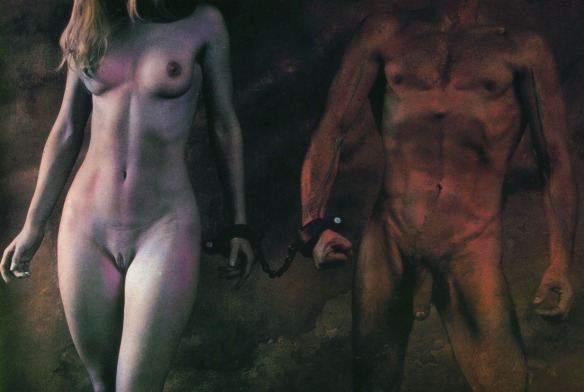 Photo by Jan Saudek: The Chains of Love No. 3 (1987)