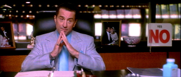 Screen capture: Ace Rothstein (Robert De Niro) in Martin Scorsese's Casino (1995)