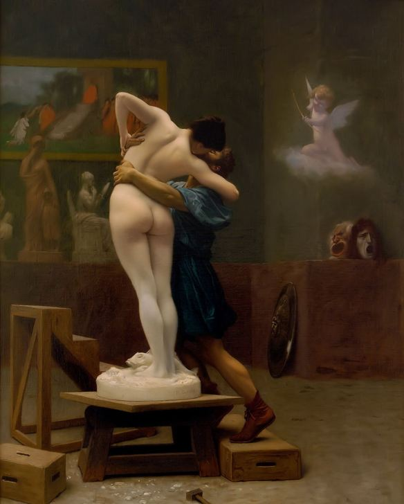 Painting by Jean-Léon Gérôme: Pygmalion and Galatea (1890)