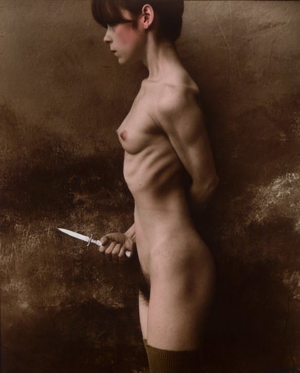 Photo by Jan Saudek: The Knife (1987)