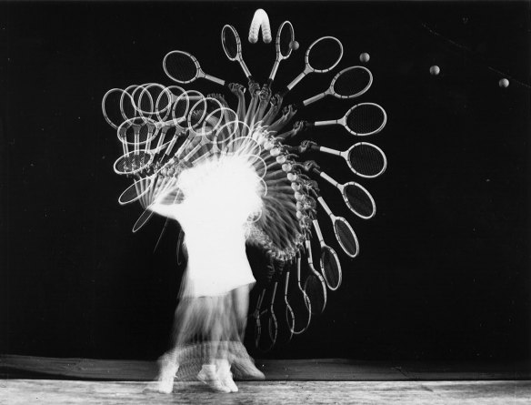 Photo by Harold Edgerton: Tennis Player (1938)
