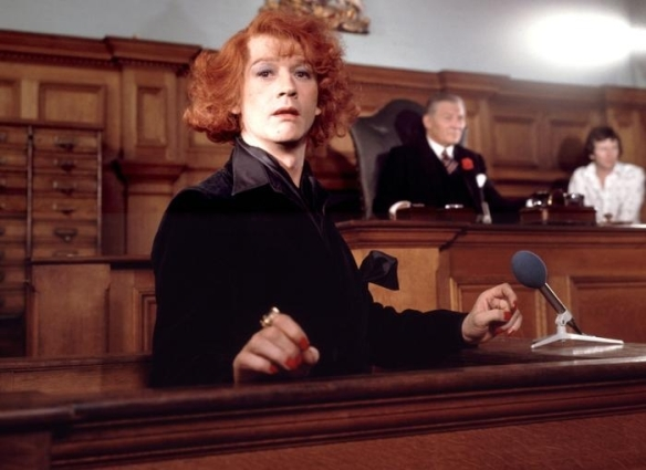 Screen capture: John Hurt as Quentin Crisp in The Naked Civil Servant (1975)