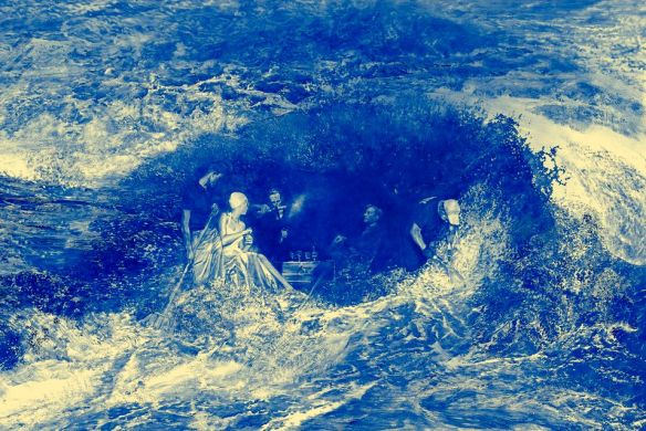 Painting by Mark Tansey: Recourse (2011)